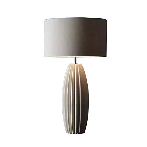JenLn Lámpara de Mesa Lateral Nordic minimalistisch retro woonkamer slaapkamer nachtkastje werkkamer hoekbank eenvoudig opvouwbaar keramiek tafellamp