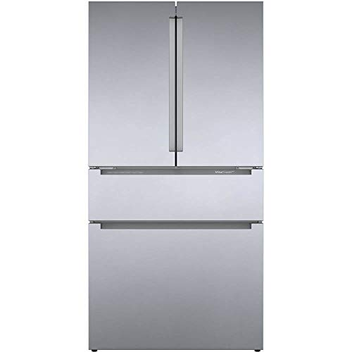 """Bosch B36CL80ENS 36"""" 800 Series French Door Refrigerator with 20.5 cu. ft. Capacity, FarmFresh System, VitaFreshPro, LED Lighting and MultiAirFlow in Stainless Steel"""