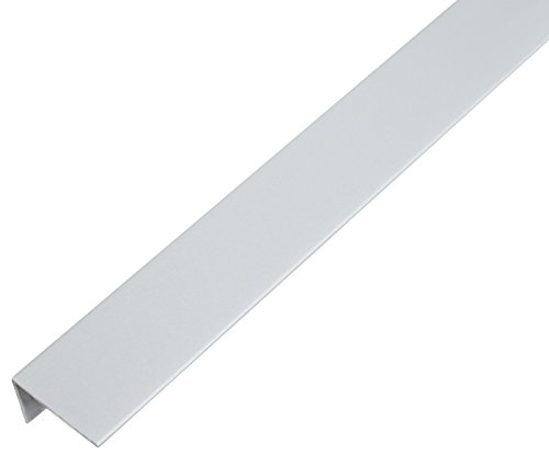 GAH-Alberts 484668 Winkelprofil-Kunststoff, aluminiumgrau, 1000 x 25 x 15 mm