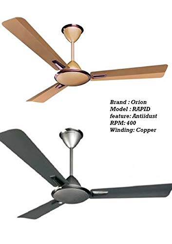 Orion Premium 1200mm Jazz White Highspeed 400RPM ceiling fan Pack of 1pcs