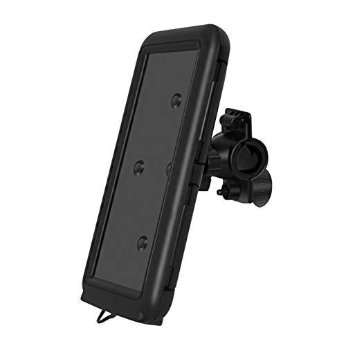 Soporte para teléfono móvil de bicicleta, soporte impermeable para teléfono con pantalla táctil para todos los teléfonos de menos de 6.8 pulgadas