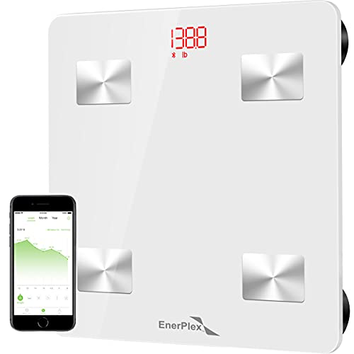 EnerPlex Scale for Body Weight - Bluetooth Compatible, Accurate...