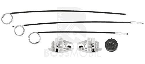 Bossmobil MEGANE 2 II (BM0/1, CM0/1_), Grandtour (KM0/1_), Stufenheck (LM0/1_), Delantero derecho, kit de reparación de elevalunas eléctricos