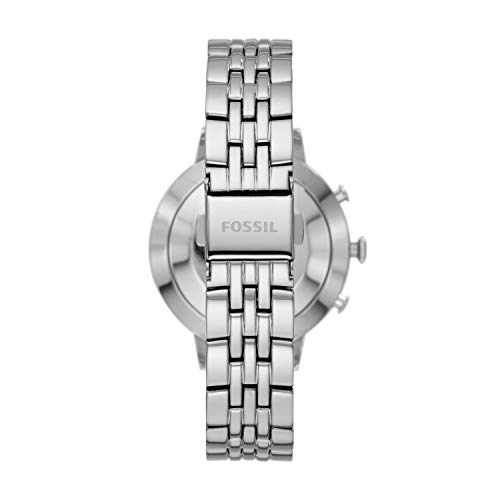 Fossil Women's Jacqueline Stainless Steel Hybrid Smartwatch, Color: Silver (Model: FTW5033) 2