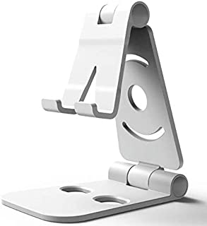 Folding Double-shaft Aluminum Metal Non-slip Phone Stand Desk Hold for iPhone IPad Table-xx