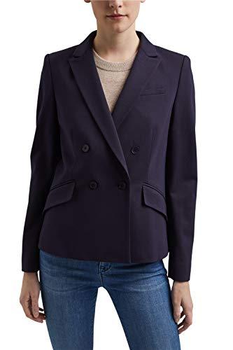 ESPRIT Collection 021EO1G310 Blazer, 400/azul Marino, 38 para Mujer