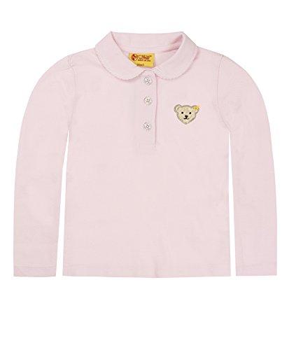 Steiff Steiff Unisex - Baby Poloshirt 0006893 1/1 Arm, Einfarbig, Gr. 92, Rosa (Barely Pink)
