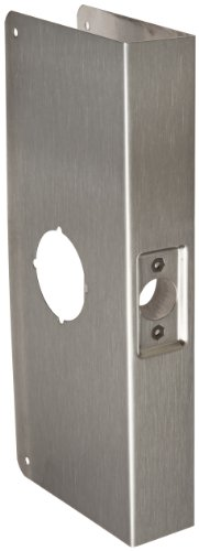 Don-Jo 12-CW 22 Gauge Stainless Steel Classic Wrap-Around Plate, Satin Stainless Steel Finish, 4-1/4' Width x 12' Height, for Cylinder Door Lock with 2-1/8' Hole