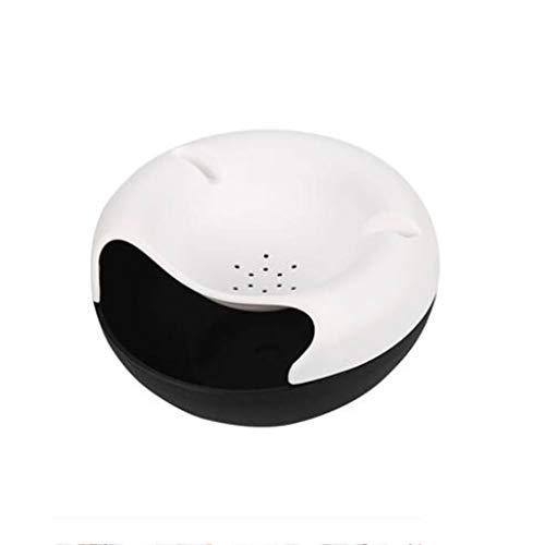 Bote de Basura Bote de Basura pequeño para Escritorio - Diseño liviano, Mini Caja de Almacenamiento de plástico para Escritorio (Azul) Papeleras (Color : White)