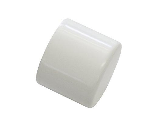 GARDINIA Endkappen für Gardinenstangen, 2 Stück, Serie Chicago, Durchmesser 20 mm, Metall, Weiß