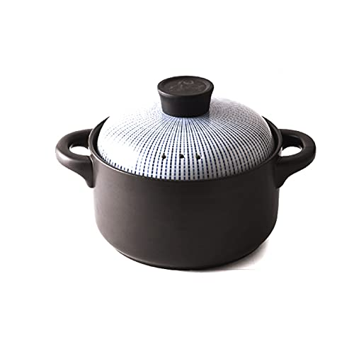 Cazuela Cerámica esmaltada Potes StewPot Stewing Casserole Cerámica Cocina Cocina Cocina Utensilios Vajilla (Size : 2.5L)