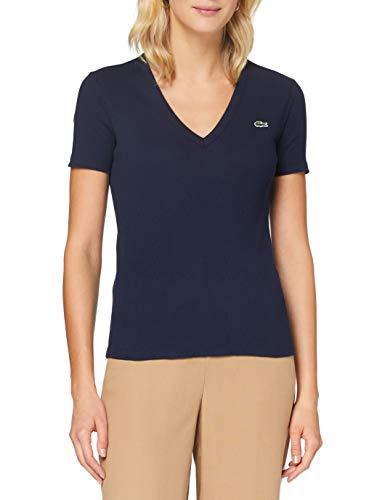 Lacoste Damen Tf5457 T-Shirt, Marine, 46