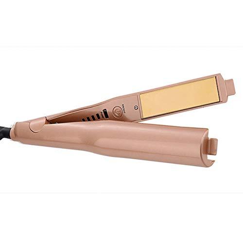 Enderezadora de pelo de la temperatura ajustable mini plancha de pelo eléctrico tablilla rotación libre de la onda grande rizador