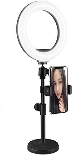 Flashes Macro y Anulares Luz del anillo LED con soporte de teléfono redondo Selfie Maquillaje de maquillaje Luz Luz de transmisión en vivo & Youtube Video Dimmable Dimmable Dimmable Nivel de luz USB V