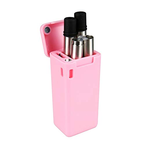 UWOOD Pieghevole in Acciaio Inox Paglia, Portable Extra Lungo 22,9 cm Pieghevole, Metallo Cannuccia cannucce riutilizzabili con Spazzola di Pulizia (Folding Straw Pink)