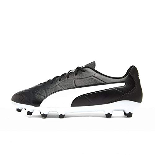 PUMA Monarch FG, Zapatillas de Fútbol Hombre, Negro Black White, 43 EU