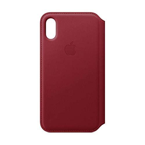 Apple Custodia folio in pelle (per iPhoneXS) - (PRODUCT)RED