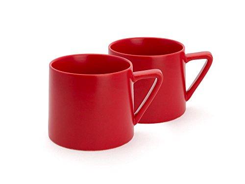 Bredemeijer Becher Lund, rot (2-er Set), Keramik, 9.2 x 11.9 x 7.7 cm