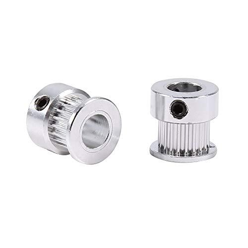 2Pz GT2 20 Denti Cinghia Dentata in Alluminio Ruota Sincrona a Flangia da 8 mm per la Stampante 3D
