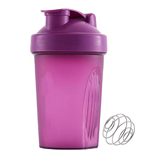 Jiaji - Botella de coctelera de proteína (400 ml)