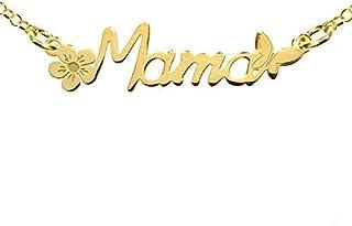 Collar Mamá Plata de Ley 925 bañado en Oro - Regalos para mama originales