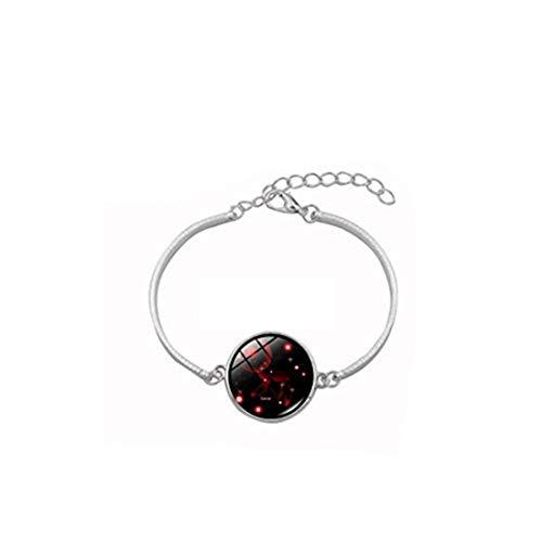 Youkeshan Pulsera de moda de doce constelaciones para mujer, regalo del zodiaco