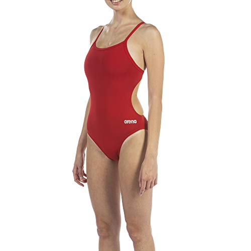 Arena Women's Solid Challenge Back One Piece Swimsuit, Red, 22