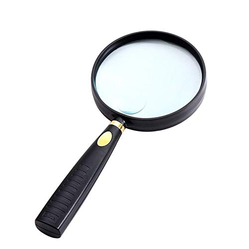 CKQ-KQ Extra Large Handheld Glass Lichtgewicht Lens for Books, sieraden maken, Coin Onderzoeken, Maps, Kranten