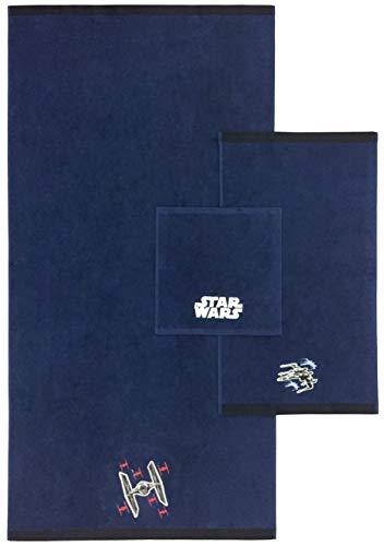 Jay Franco Star Wars Classic 3 Piece Towel Bath, Hand, Washcloth Set, Blue
