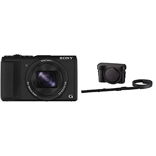 Sony DSC-HX60 Digitalkamera (20,4 Megapixel, 30-fach opt. Zoom, 7,5 cm (3 Zoll) LCD-Display, Exmor R CMOS Sensor, NFC/WiFi) schwarz & Kameratasche für DSC-HX50 und HX60