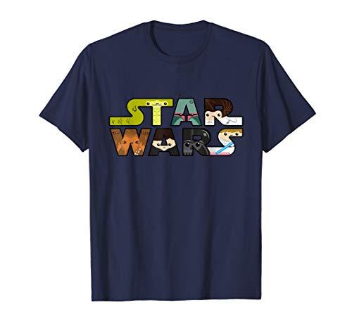 Star Wars Logo Character Close-Up Kawaii Style T-shirt