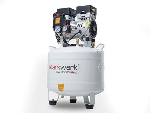 750 Watt !69db! 8 Bar ölfrei Flüsterkompressor Druckluftkompressor Silent Compressor leise Starkwerk SW 355/08