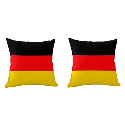 Phoeni Deutschland Flaggen Kissen Weiche Flaggenkissen Deutsch Dekokissen Zierkissen für Sofa Schlafzimmer Wohnzimmer Dekokissen
