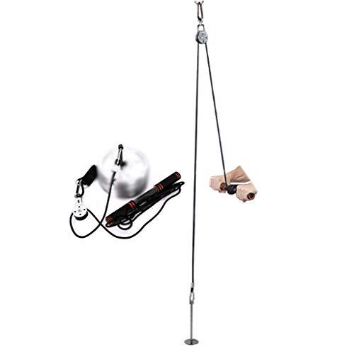 Poleas Gimnasio Cuerda de tracción de polea Ejercicio de Levantamiento Equipo de Gimnasia abatible Alto Inicio Entrenamiento Simple con Cuerdas Entrenamiento de los músculos del Brazo