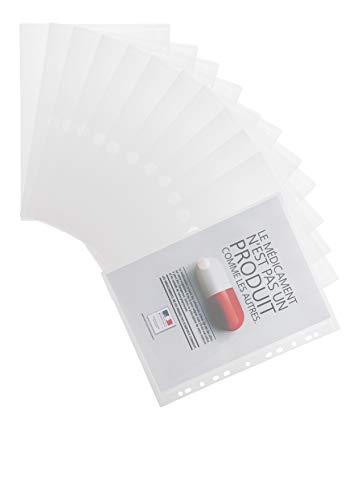 Tarifold Es 510230 - Carpeta Portafolios Sobre A4 Plástico Multitaladro para Archivo- 12 unidades