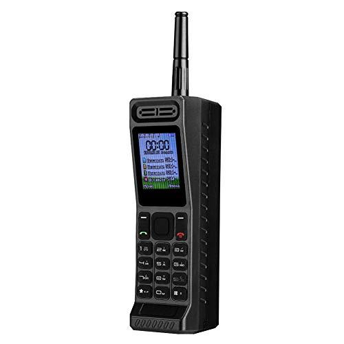 Goshyda Teléfono de Cuatro Tarjetas y Cuatro en Espera, Radio de Banco de energía Recto, teléfono móvil con Bluetooth y MP3 con función de Cambio de Voz, Baja pérdida y Espera Prolongada(Negro)
