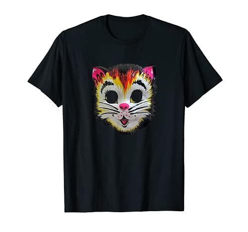 Disfraz de gato de Halloween Mscara de gatito lindo regalo divertido para nios Camiseta