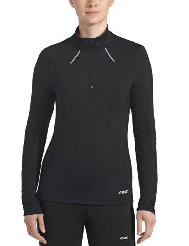 Rono Femmes T-Shirt de Course à Manches Longues XS - Noir (900)