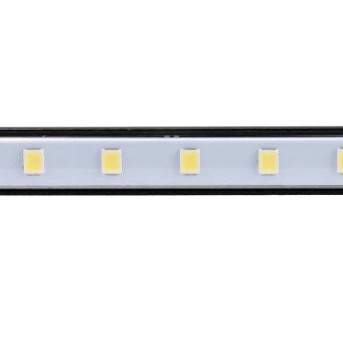 VINGVO Lámpara con Clip Flexible, Lámpara con Clip USB para Escritorio para luz Nocturna para computadoras para cabecera de Cama(Black)
