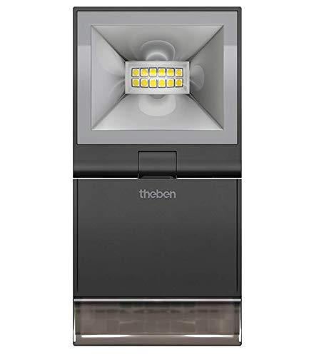 Theben theLeda S10 W BK - LED-Strahler mit Bewegungsmelder (PIR), Scheinwerfer, Flutlicht für aussen und innen,1020932