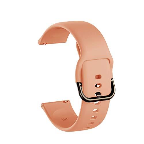 Pulsera De Banda De Banda De Reloj De Silicona De 20 Mm. *4* (Band Color : Pink, Band Width : 20mm)
