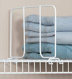 Organized Living freedomRail Shelf Divider for freedomRail Ventilated Shelves, 16-inch - White