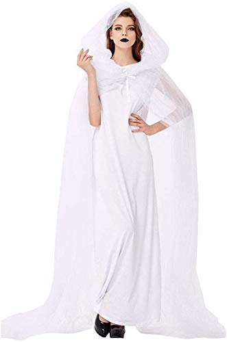 Disfraz De Novia para Mujer con Vestido Y Capa Disfraz De Novia Zombie De Cadáver para Mujer,XL