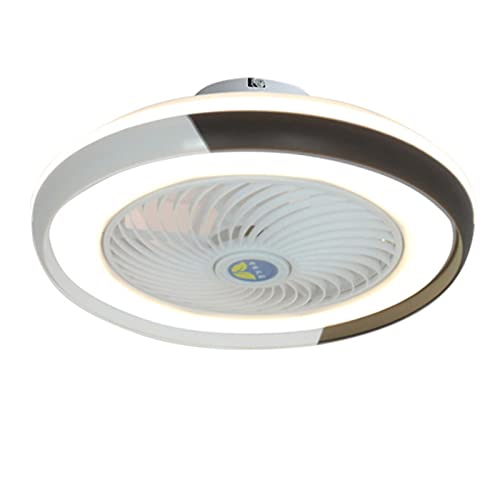 MJJLT Ventilador LED con Iluminación De Techo Luz Colgante De 36W Regulable con Control Remoto Velocidad del Viento Ajustable De 3 Velocidades Ventilador Silencioso Candelabros Sala De Estar Brown