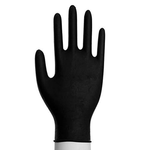 100 Nitril Einmalhandschuhe Puderfrei Größen XS-XL Schwarz Größe S (6-7)
