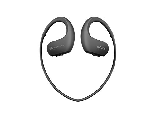 ソニー ヘッドホン一体型ウォークマン Wシリーズ NW-WS413 : 4GB MP3プレーヤー ブラック NW-WS413 BM