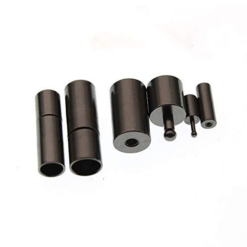 Nologo G.Y.X 10pcs Pulseras Collares Conectores Caps de la Hebilla del imán Cierres Fin for la Ronda Suministros de Cuero for los Resultados de la joyería de Bricolaje