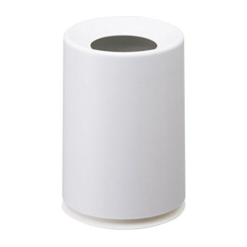 イデアコ ゴミ箱 ミニ チューブラー ホワイト 1.2L