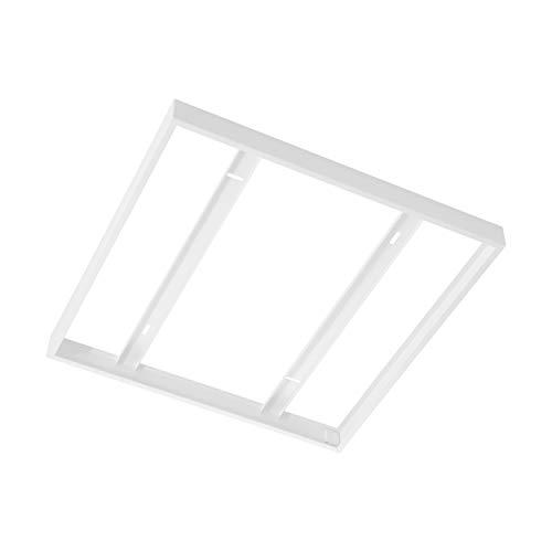 EGLO Aufbaurahmen Zubehör für EGLO SALOBRENA 1 - 627 x 628 x 5 cm - für Rasterleuchten und LED Panel - aus Stahl in weiß