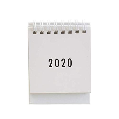 ZJYSM Desktop-Organizer-Jahreskalender-Desktop-Falten-Rundlauf-Coil-Tagebuch Mehrfarbig (Color : White)